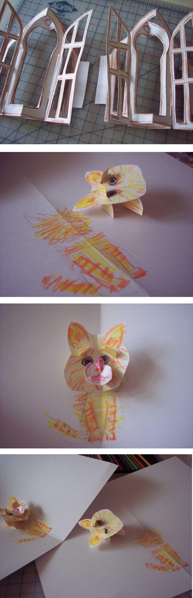 kitty pop-up card 5,6,7,8
