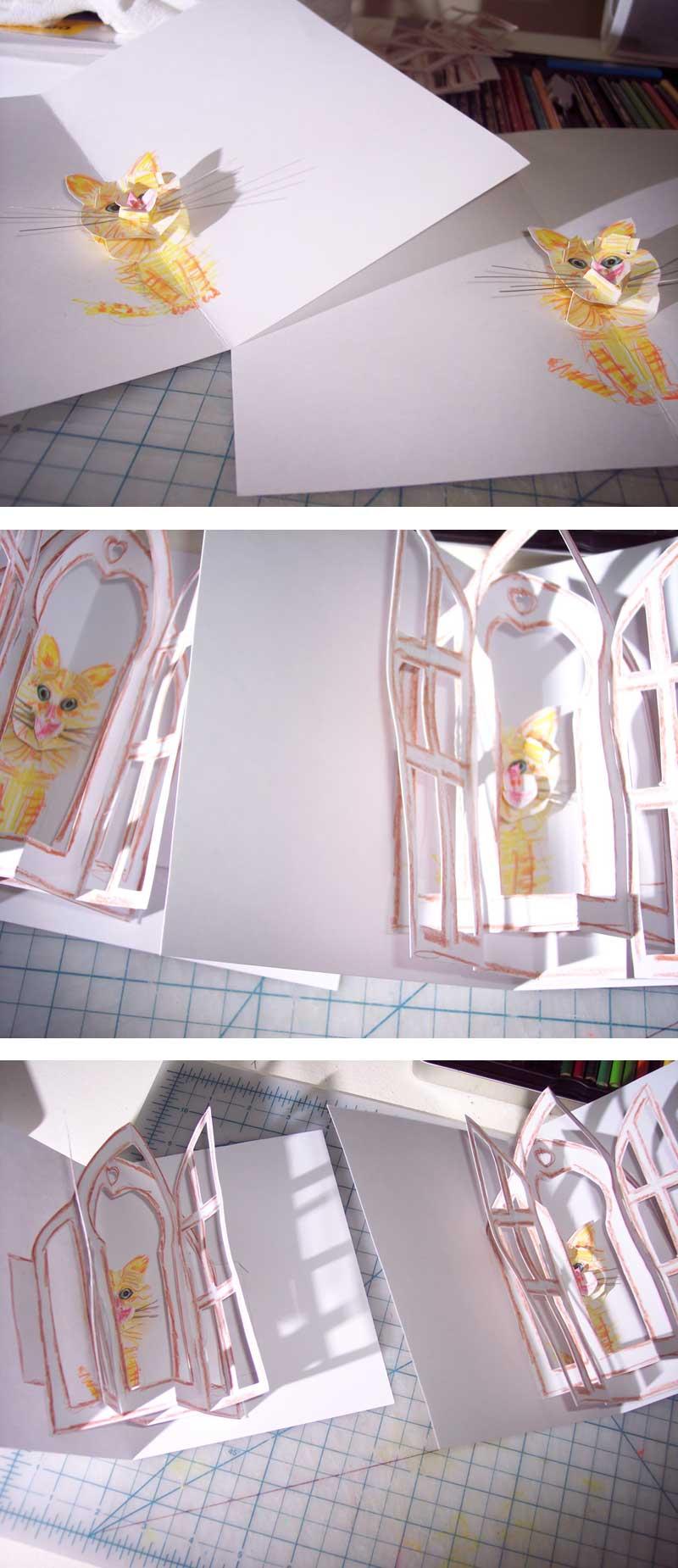 kitty pop-up card 9,10,11